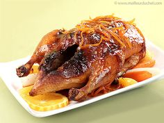 Try this illustrated, step-by-step recipe and enjoy a homemade duck with orange sauce. Duck Recipes, Orange Recipes, Old Recipes, Chicken Recipes, Recipies, Duck Ala Orange, Roast Duck, French Food, Christmas Baking