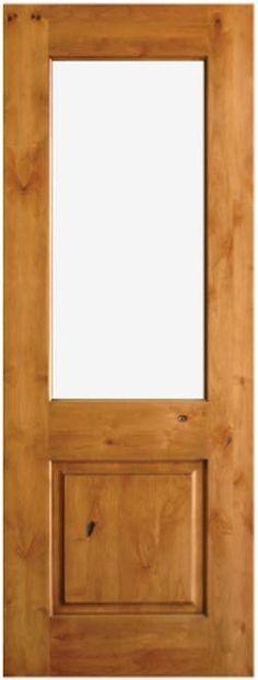 Simple and Beautiful Single Panel Doors | UberDoors | Knotty Alder Solid Wood Door