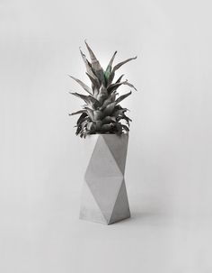 Geometrical Concrete Minimalist Vase geometrical concrete vase (35.00 EUR) by frauklarer