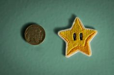 Tiny Star Power  Embroidered Ironon Nintendo Throwback by OKsmalls, $3.00