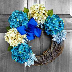 Hanukkah Wreath - Chanukah Decor - Hanukkah Decorations - Holiday ...