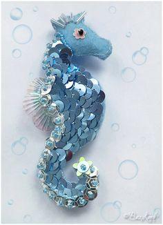 "Blue sea horse--Could make a fun take on the ""horse"" zodiac sign?"