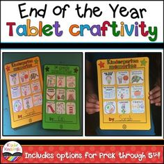 "End of the Year Activities : CraftivityEnd of the Year Activities : Tablet CraftHere's a fun way to add something different to your end of the year activities AND help your students document their favorite memories from their school year!****Includes a set of ICONS that are EDITABLE so you can create your own****Students will create a ""tablet"" filled with ""apps"" that tell about their favorite activities, events, and things they did during their school year!"