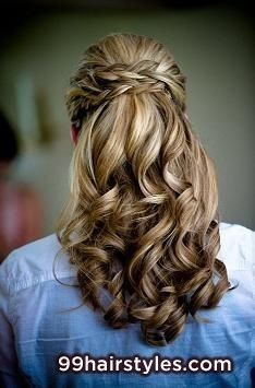 brunette hairstyle idea for homecoming and prom - 99 Hairstyles Ideas