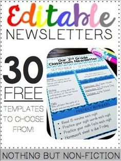This product contains 30 FREE Newsletter templates! Yes, we said it- FREE We just ask that you leave us a comment after downloading! :) We would love to hear from you! Thank you! Note: You will need powerpoint to open this file.