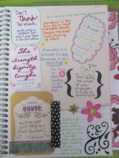 Example of a smash book page - I like the variety of doodles, texts, etc