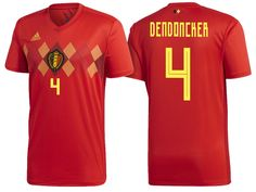 4464946c1 2018 Belgium World Cup Authentic Jersey #4 Thorgan Hazard, Eden Hazard,  Cheap Football