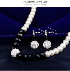 Simple alloy plating Necklace set (CA239-A)NHDR1459 Necklace Set, Pearl Necklace, Plating, Pearls, Simple, Jewelry, String Of Pearls, Jewlery, Jewerly