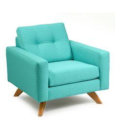 Look at this #zulilyfind! Teal Textured Stanley Chair #zulilyfinds