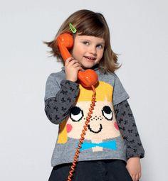 Modèle pull trapèze jacquard fille - Modèles tricot enfant - Phildar
