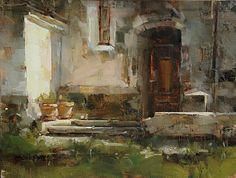 Side Entrance by Tibor Nagy Oil ~ 12 x 16