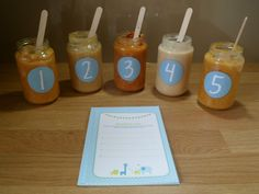 Baby Shower Game - Guess The Baby Food - Blue/Boy