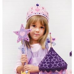Mary Maxim - Fairy Tale Crown & Wand Kit - Plastic Canvas Kits - Plastic Canvas - Crafts