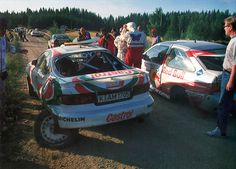 """""""No niin. Mitä v#ttua?!?"""" - co-driver Nicky Grist to Juha Kankkunen after they crashed in the 1994 1000 Lakes Rally."""