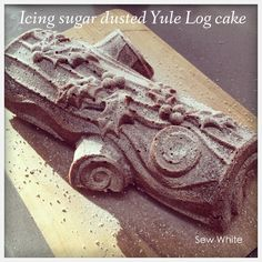 Yule Log Christmas Cake | Sew White