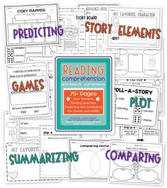 the teacher wife: reading comprehension packet Reading Comprehension Worksheets, Reading Resources, Reading Strategies, Reading Groups, Teaching Skills, Teaching Reading, Guided Reading, Reciprocal Reading, Common Core Reading