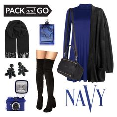 """Pack And Go: Winter Getaway"" by sini-harju on Polyvore featuring Boohoo, Givenchy, COVERGIRL, The Beautiful Mind Series, J.Crew, BeckSöndergaard, contestentry and Packandgo"