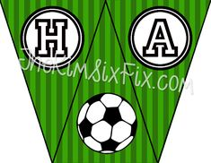 Soccer Birthday Party (and Free Printables) via TheKimSixFix.com