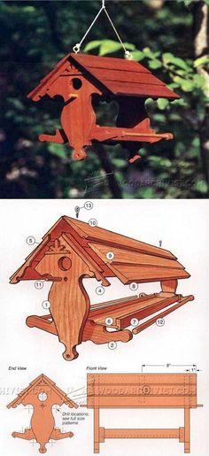 Bird Feeder Plans - Outdoor Plans and Projects | WoodArchivist.com Деревянные дома
