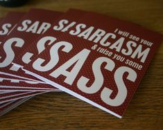 Sarcasm and Sass Funny Snarky Greeting Card Friendship on Etsy, $5.00