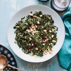 ... collard greens with roasted peanuts sautéed collard greens
