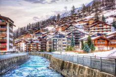 Fine Art Prints Gornera river inside the cosy Zermatt village Photographe Lausanne