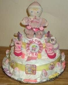 How to Make a Diaper Cake | How To Make Baby Diaper Cakes Cloth - kootation.com