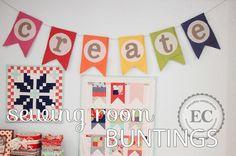 Sewing Room Buntings « Moda Bake Shop