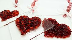 Fused glass hearts. For sun catcher or night light