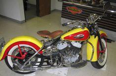 Vintage 1947 Harley Davidson Flat Head Motorcycle.