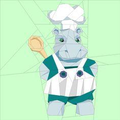 (7) Имя: 'Лоскутное: Бегемот Шеф-повар