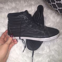Vans high top They have been worn, but still super cute. Vans California  size 9.5 men's/size 11 women's •listed UO for more views• Urban Outfitters Shoes Sneakers