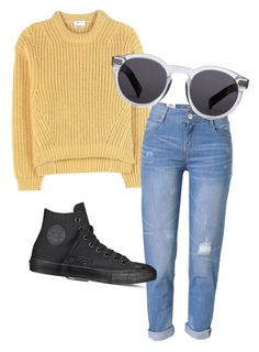 """Untitled #64"" by ameliajaggi on Polyvore featuring Acne Studios, WithChic, Converse and Illesteva"
