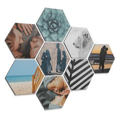 A hexagon photo is a cool way to continue to personalize your walls quickly and easily with your own images. With these fun hexagonal photos on forex, plexiglass or (dibond) aluminum you will never get tired of the walls in your house. Art Pictures, Photos, Hexagon Box, 3d Foto, Dorm Design, 3d Wall Art, Cool Tools, Home Decor Inspiration, Decorative Boxes