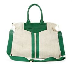 Green and White Purse