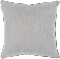 "Piper 20"""" Outdoor Pillow in Grey design by Surya"