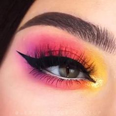 Makeup Eye Looks, Eye Makeup Steps, Eye Makeup Art, Colorful Eye Makeup, Beautiful Eye Makeup, Crazy Makeup, Eyeshadow Looks, Eyeshadow Makeup, Eyeliner