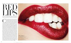 Harper's Bazaar Editorial Red Lips, August 2013 Shot #1