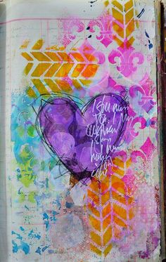 Color love on this journal page by @Dina Dankers Wakley