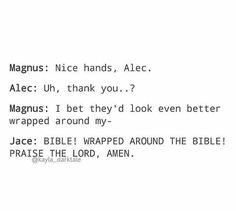 Jace herondale, Magnus bane, and Alec lightwood