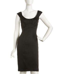 Satin Sheath Dress by JAX at Last Call by Neiman Marcus.