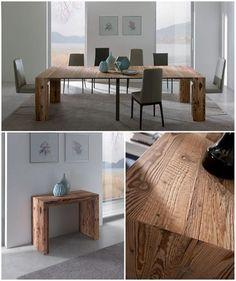 Consolle Allungabile in Vero Legno GLASS Design Marco Pozzoli/Giacomo Mauri @ozzio #consolle #allungabile #legno #glass #ozzio #ideas #home