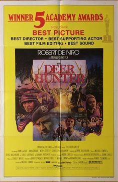 オリジナルポスター「ディア・ハンター」US版1SH アカデミー賞版 ロバート・デ・ニーロ クリストファー・ウォーケン メリル・ストリープ_全体像。ロバート・デ・ニーロ主演作品。