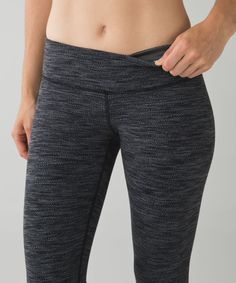a8d3ee7cd9 Lululemon Wunder Under Pant - Diamond Jacquard Space Dye Black Slate
