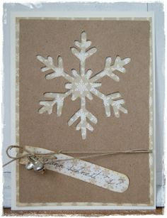SNOWFLAKE Card - Two Peas in a Bucket. I think it has tiny bells on it. So cute!!!