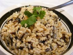 Savory, Herbed Three Grain Pilaf