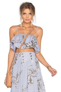Tularosa Barette Top in Chambray | REVOLVE