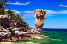 I was amazed when informed that this amazing view was taken in Ontario,Canada.I thought that it must be somewhere in NOrthern Europe.perhaps the Hebrides Islands of the UK. Click the photo to see suggestions for future travel. Statues, Flowerpot Island, Costa, Nostalgia, Canada National Parks, Canadian Travel, Nature Hd, G Adventures, Parc National