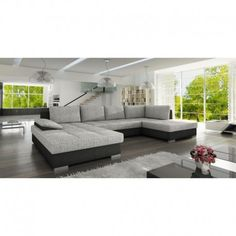 Features: Bedding container Corner position right/left Sleep function sofa Wave springs Product Type: Large Corner Sofa Shape: U-Shaped Orientation: Sectional Sleeper Sofa, Modular Sectional Sofa, Modern Sectional, Modern Sofa, Living Room Sofa Design, Living Room Furniture, Transitional Sectional Sofas, European Furniture, Corner Sofa