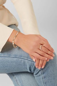 Anita Ko - Spike 14-karat Rose Gold Diamond Bracelet - one size
